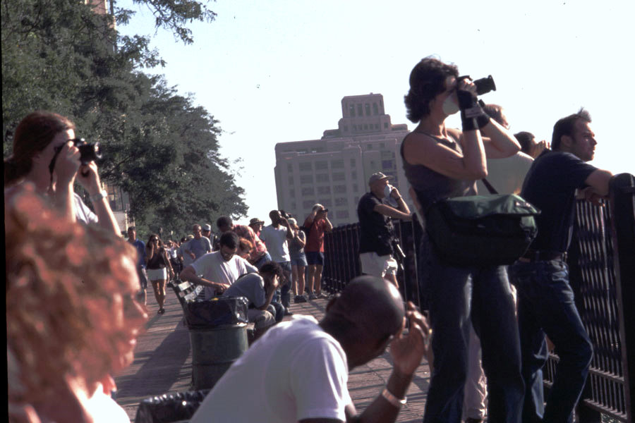 Disbelief on the Promenade on 9/11, photo by Michael Couzens