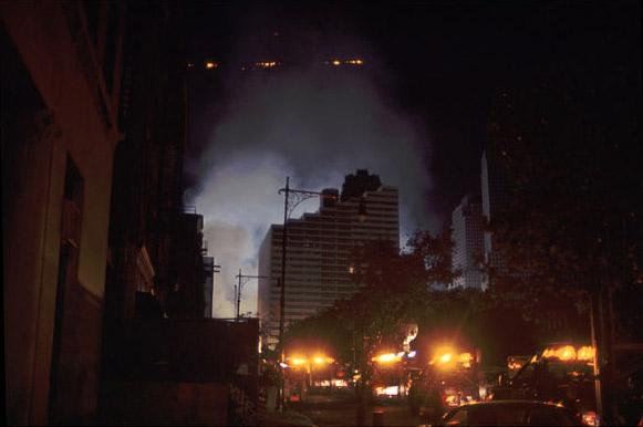 Lights from Ground Zero, photo by Michael Couzens, Sept. 13