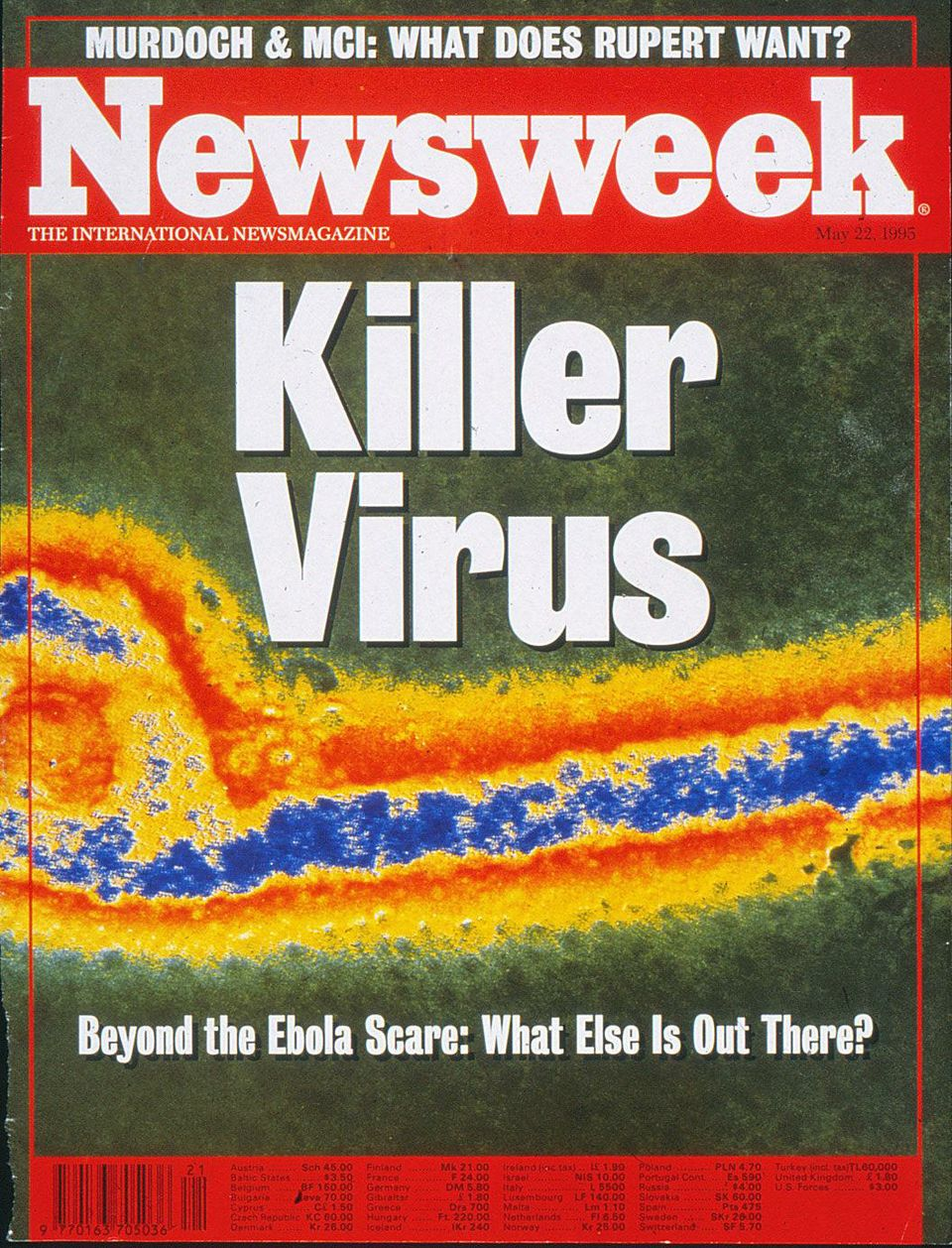 Newsweek headline declared KILLER VIRUS.