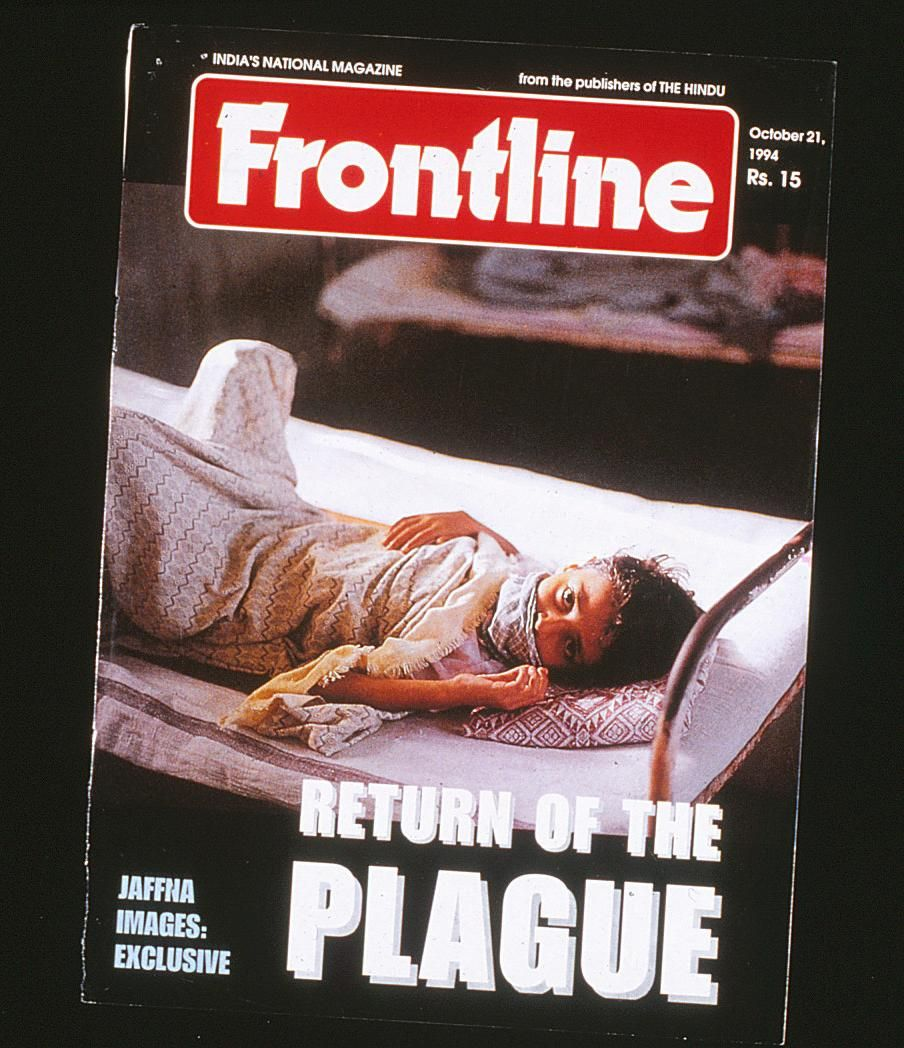 India's reputable FRONTLINE declares the return of plague.