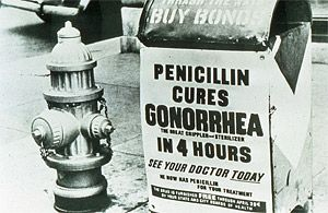 When antibiotics proved in 1949 to be curative for gonorrhea and syphilis public health had a new weapon in its battle against disease, allowing a carrot-and-stick approach to control of STDs.