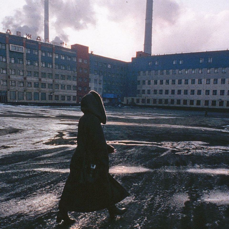 So great is the industrial pollution of Nori'lsk, Siberia, that snow falls black and the sun never shines clearly.