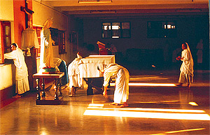Mother Theresa's AIDS care center in Calcutta.