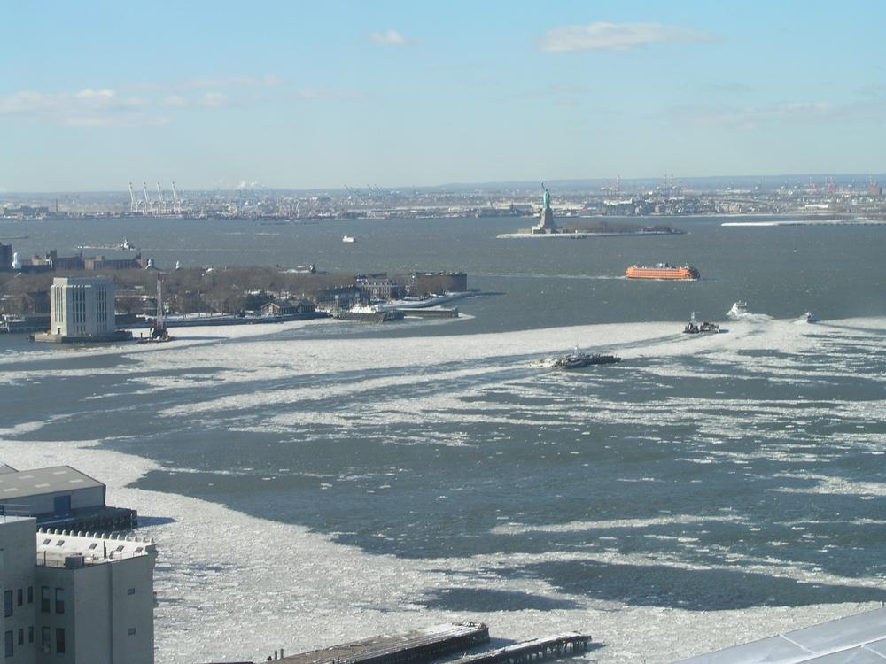 Iced NY Harbor 2001