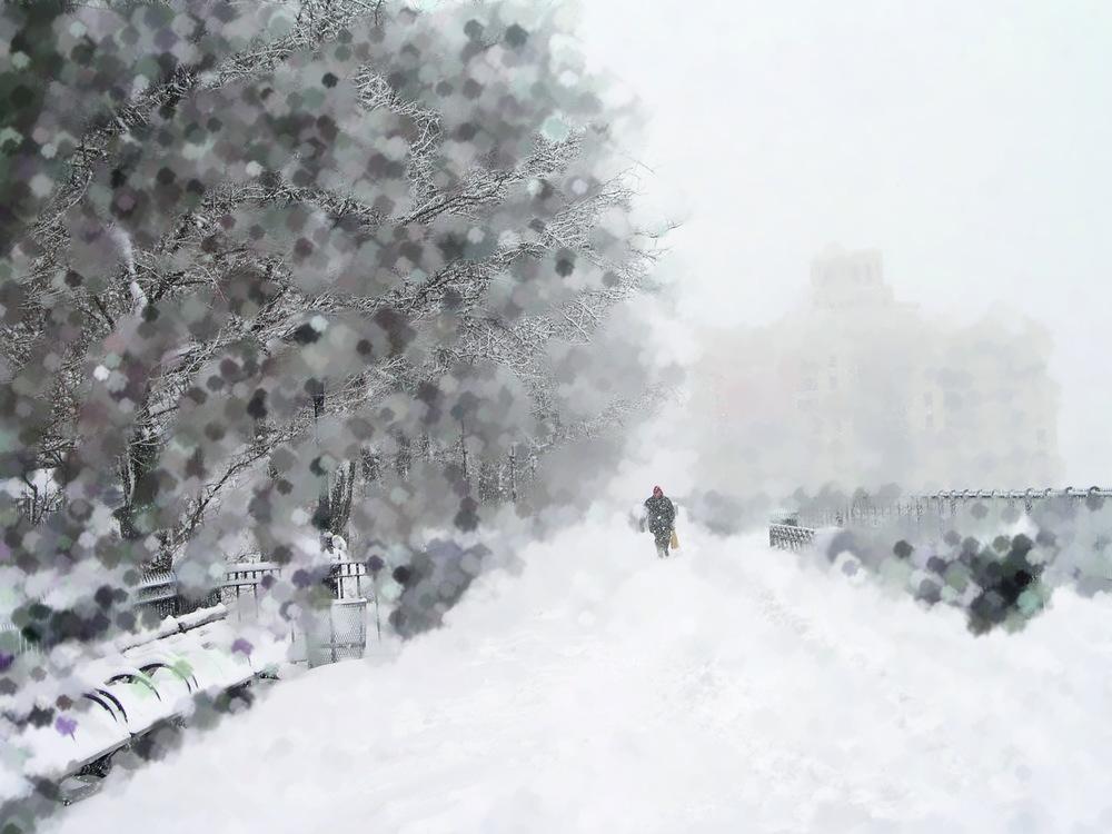 Artifyed Snowbound Promenade