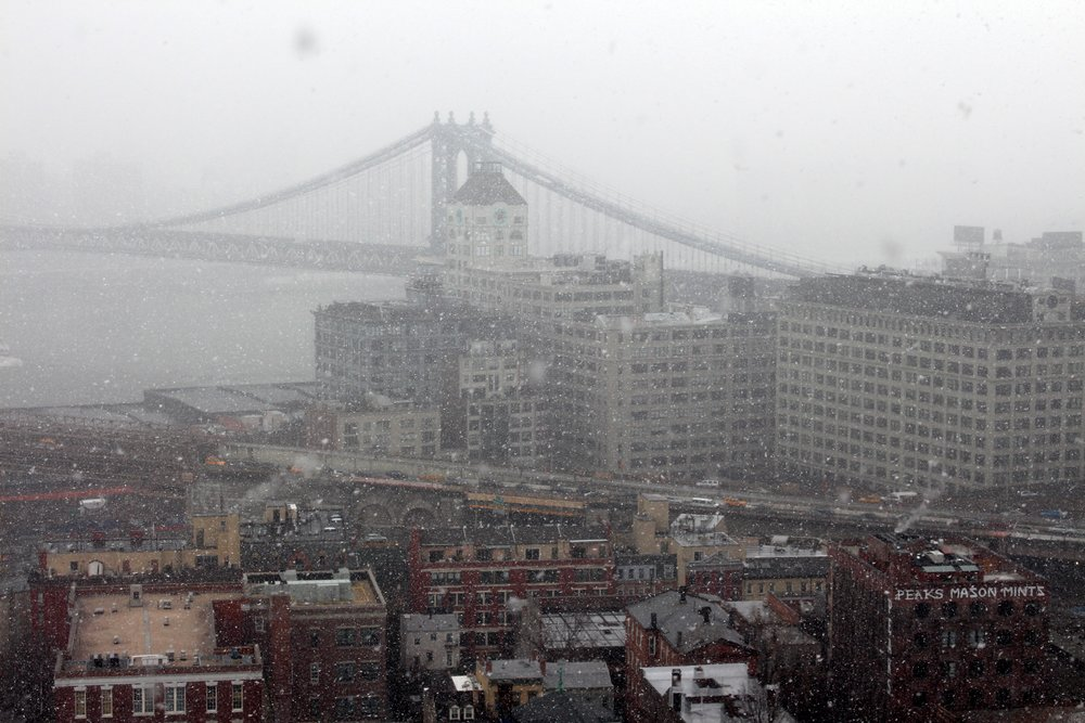 Snow Falls on DUMBO