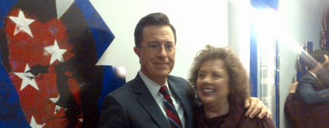 Colbert Report Backstage 1