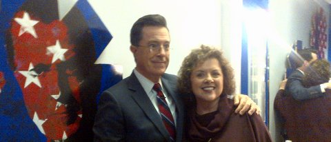 Colbert Report Backstage 2