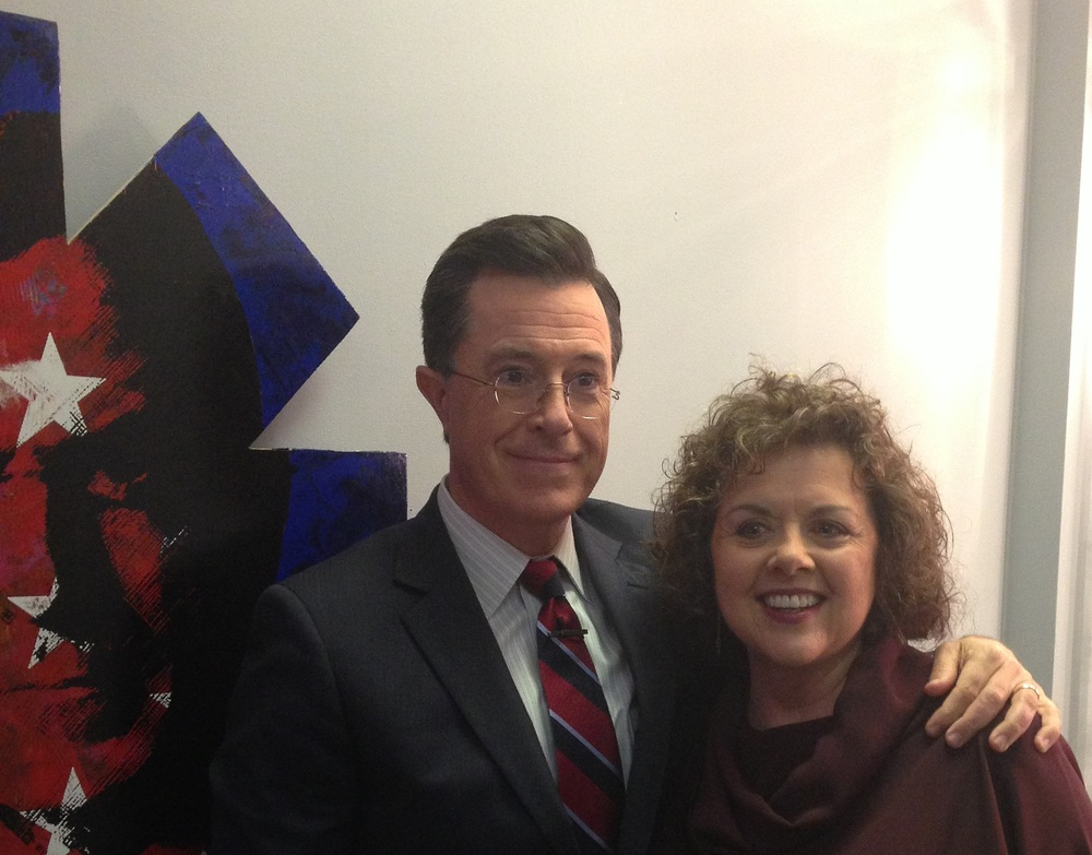 With Stephen Colbert