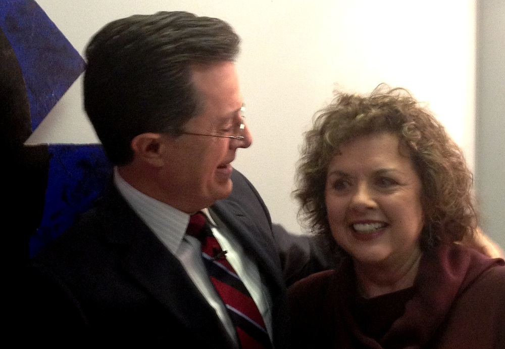 Backstage with Stephen Colbert
