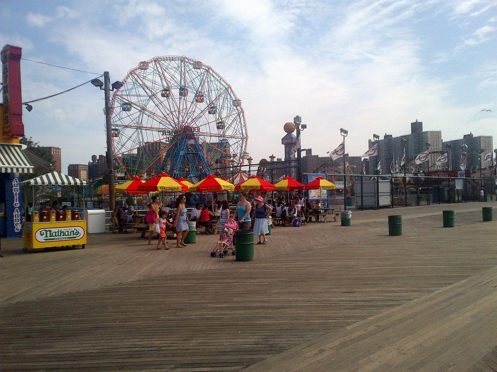 Coney Island Boardwalk Aug 2013