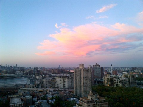 Pink Clouds Over Manhattan