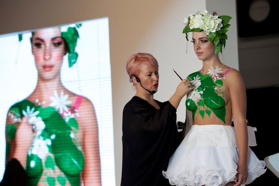 I also touched on this idea when speaking here at Salon Melbourne in 2012... I focused more on the art of being a body artist and only lightly spoke about this 'body art to train your makeup skills' concept