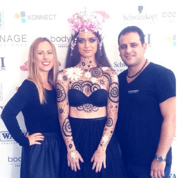 I announced the Pre-Sale of 'W E T H E P A I N T E D' at the Hair Biz Forum in Brisbane... I body painted onstage sponsored BODYOGRAPHY using their delicious silk creme foundations amongst other goodies...