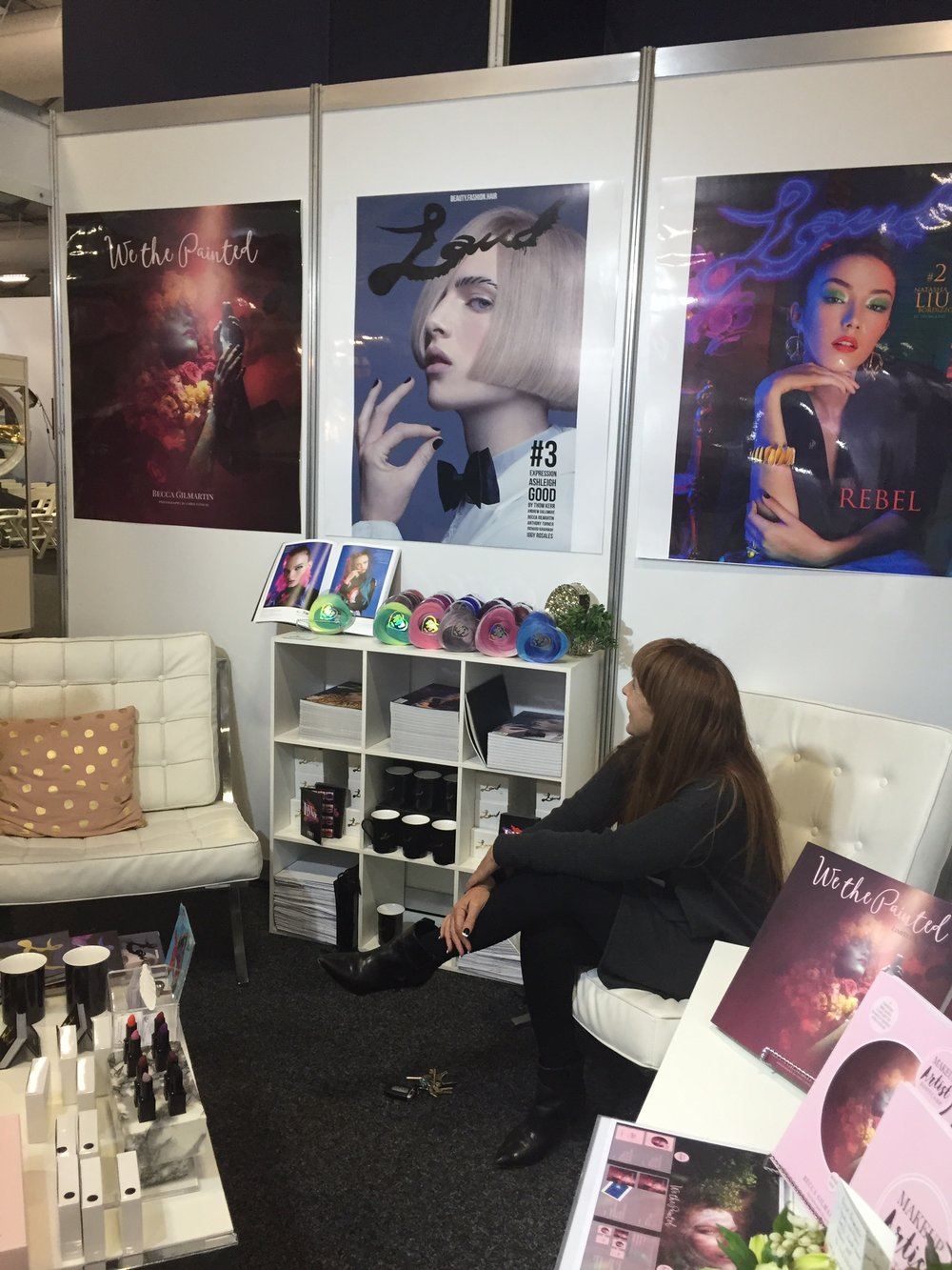 Trish Lee taking a moment in the chaos to appreciate the fact that all of our hard work was FINALLY paying off.... this was the first time my books saw the light of day! The books wouldn't exist without the support of Trish and LAUD Magazine. xxxx