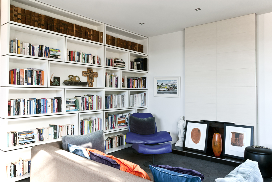 Library and living room renovation by Mandel Contracting
