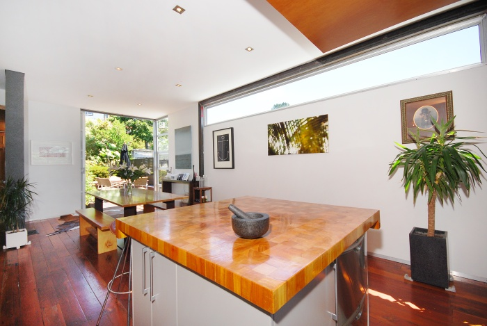 Dining room and kauri butcher's block by Mandel Contracting