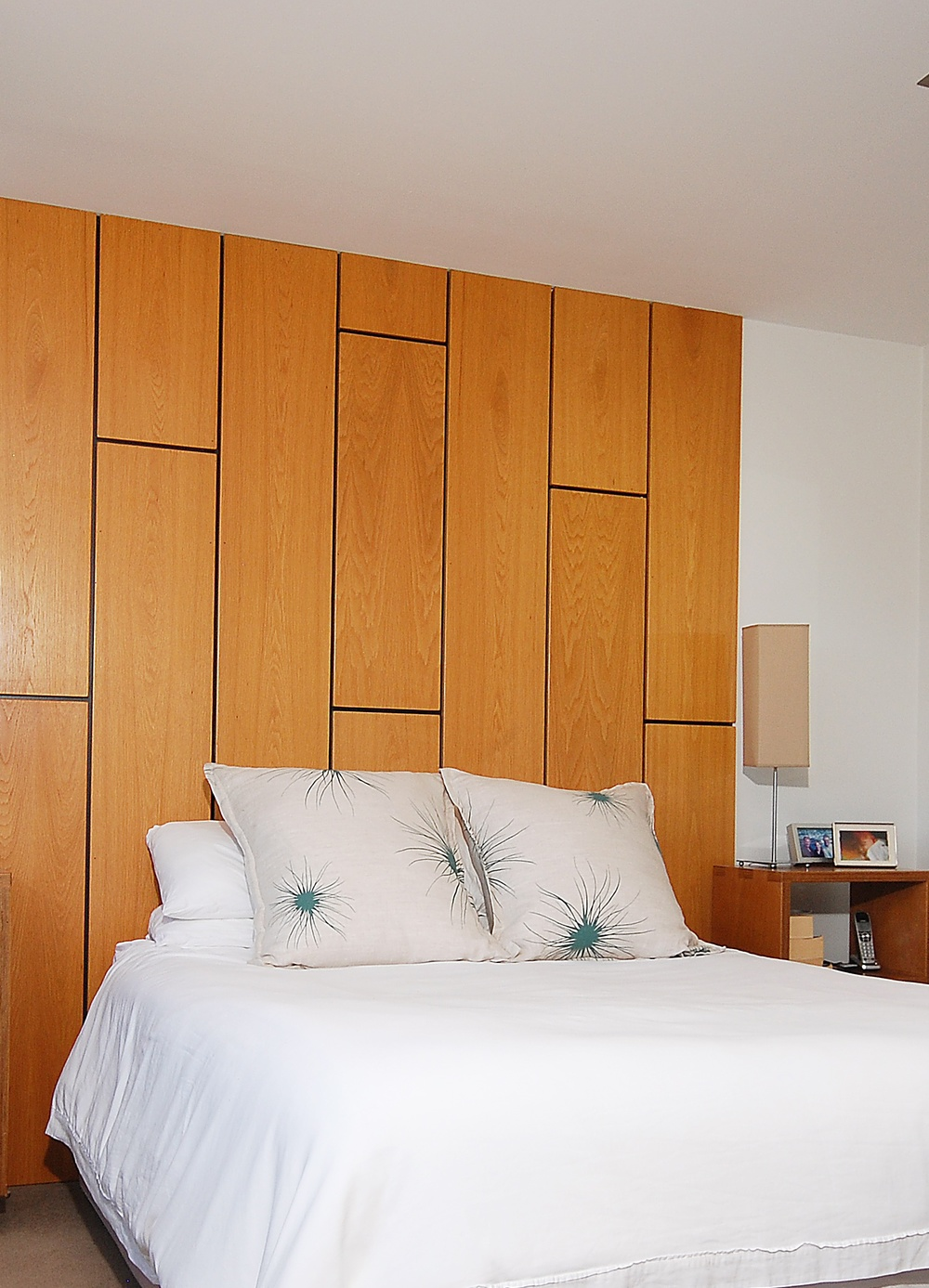 Plywood headboard by Mandel Contracting