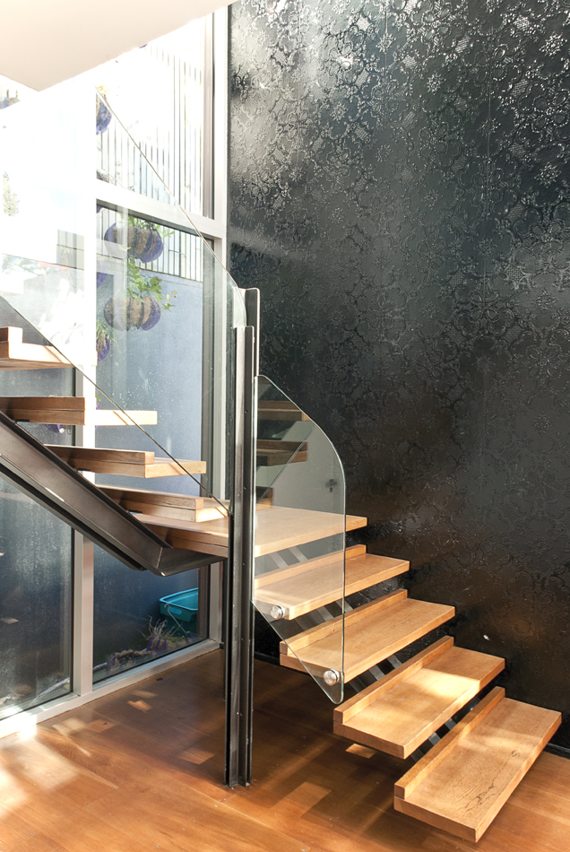 Stairwell entrance by Mandel Contracting