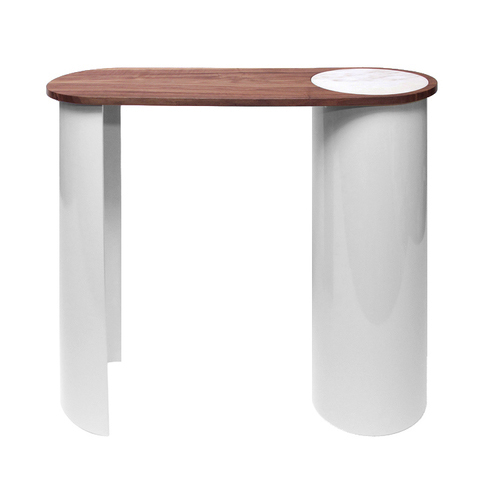 CONTOUR CONSOLE TABLE - WOOD/STEEL/MARBLE   -2014-