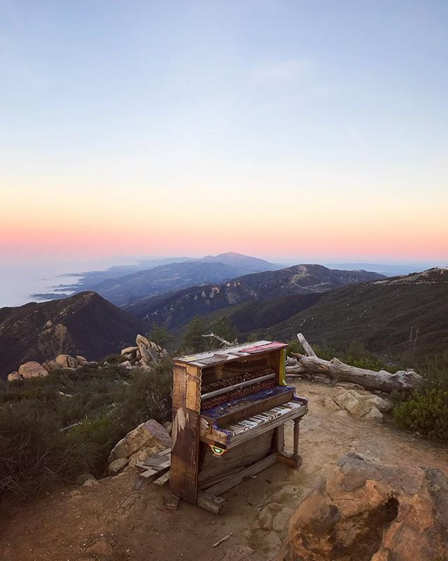 Piano on top of La Cumbre Peak!