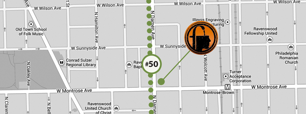 Post-Hopleaf, hop over to the #50 bus and head over to the rooftop at Fountainhead.