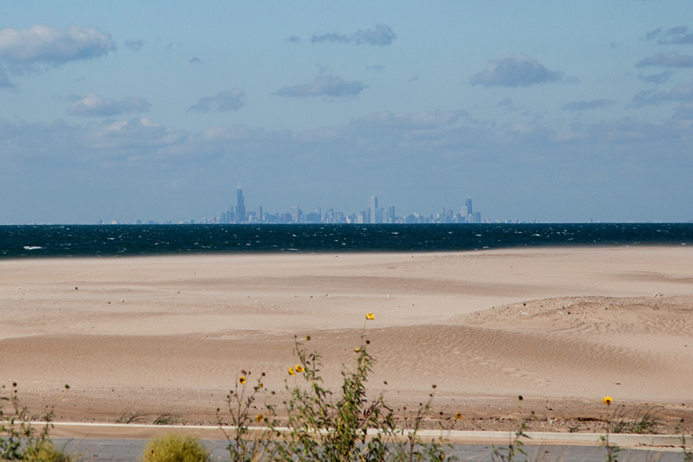 We were blown away by the beauty of Miller Beach including the stunning view of the skyline
