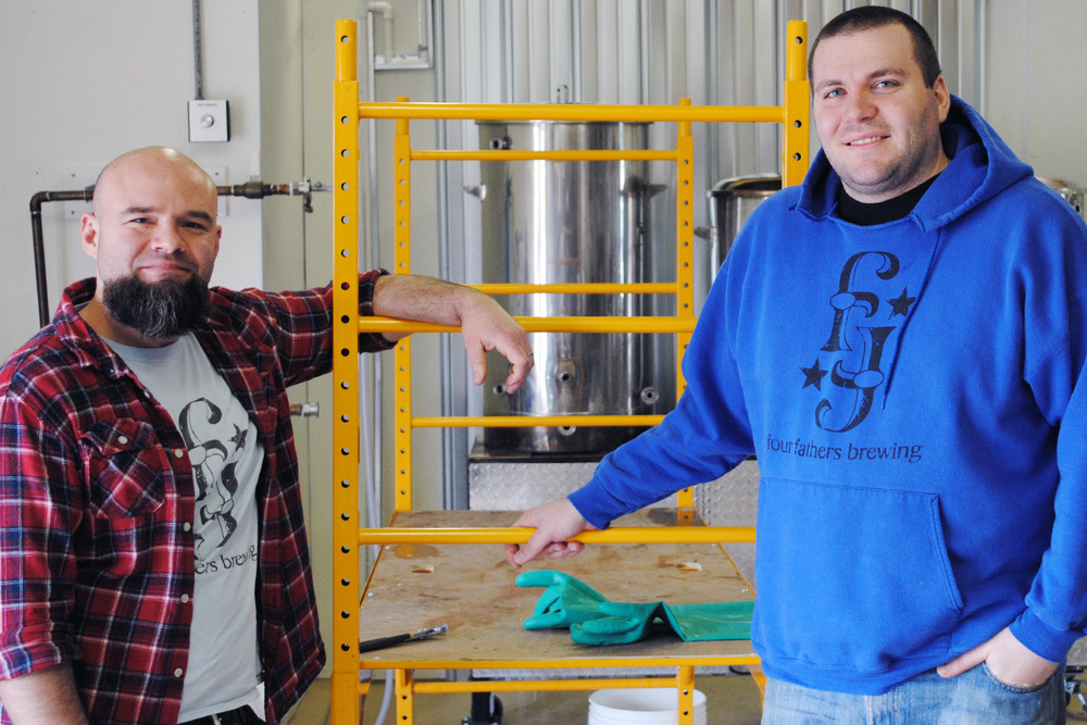 Jason Lacny & Colin Oswald, the brewers behind Valpo's newest operation.