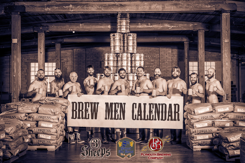 The Brew Men Calendar: Beards, Beers, and Not Much Else