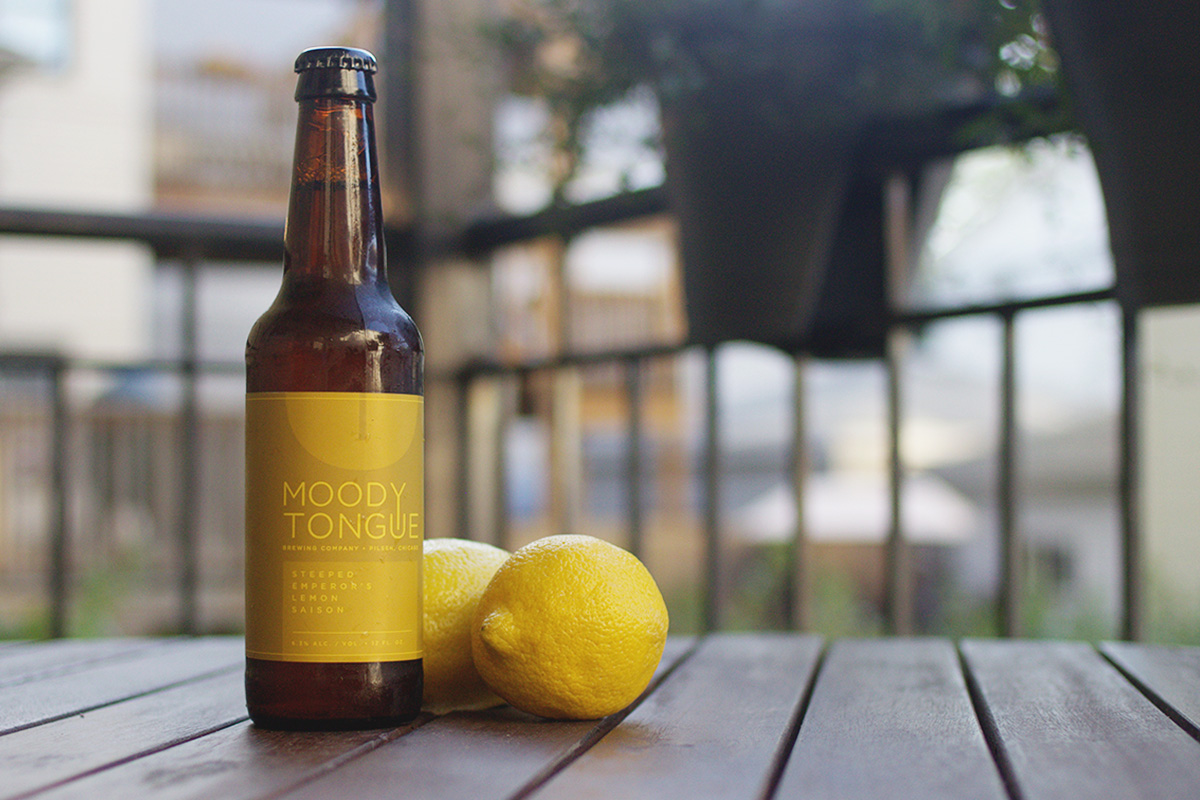 BOTM: Moody Tongue Steeped Emperor's Lemon Saison