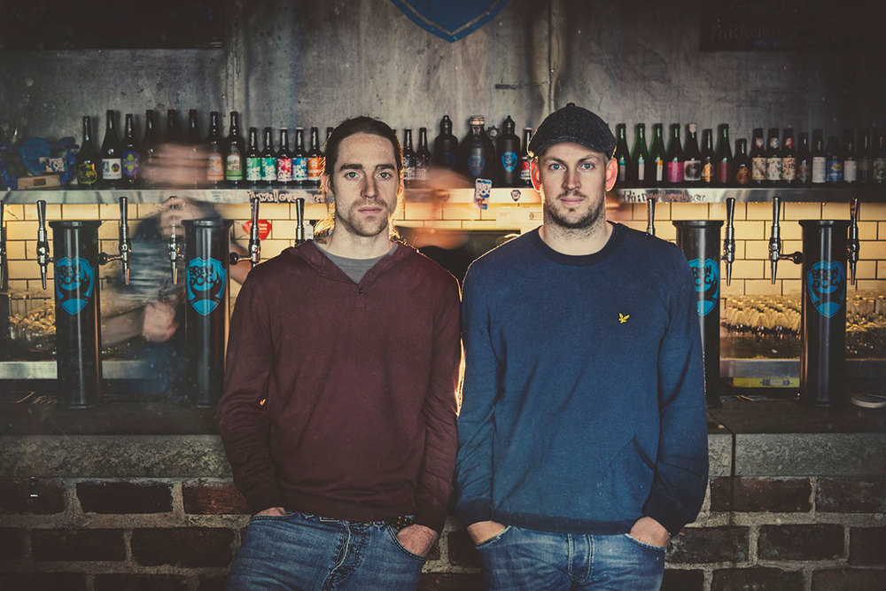 BrewDog co-founders, James Watt & Martin Dickie, owners of the UK's fastest-growing brewery.