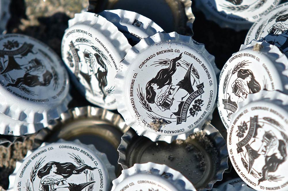 Previous bottle caps.