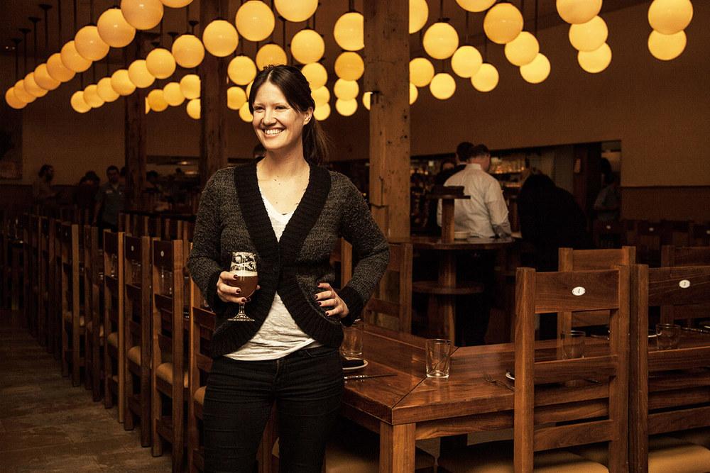 Publican's beverage coordinator,   Rebekah Graham, talks beer and wine.[  Photo:Melinda Myers]