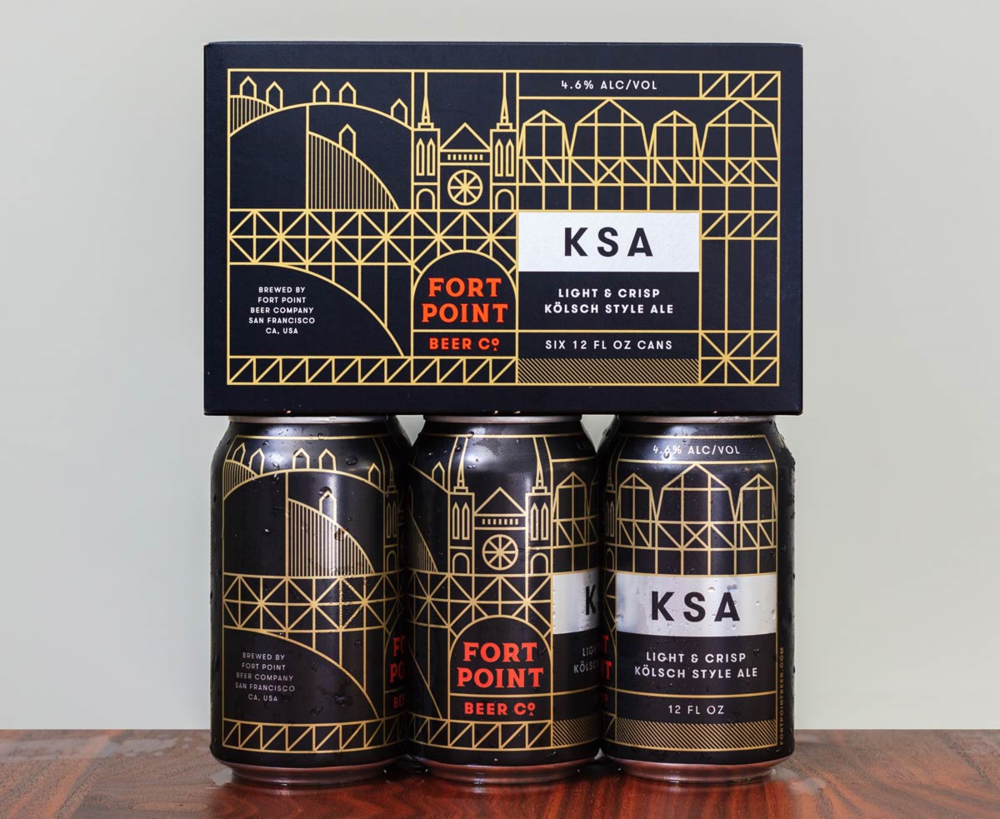 Who wouldn't like a black and bronze can design? [Image provided by Fort Point Beer Co.]