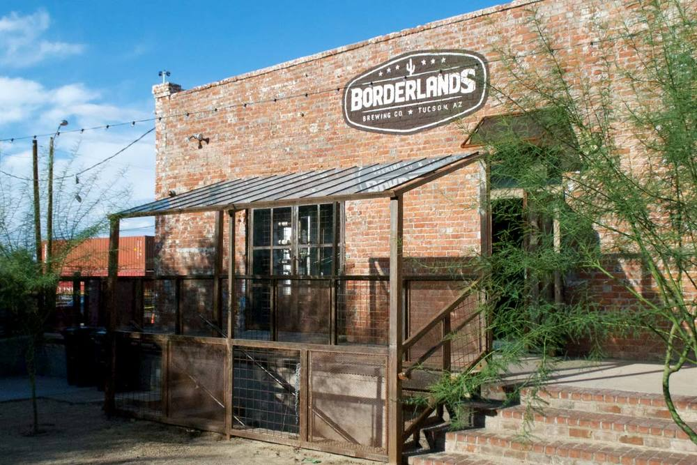 Borderlands sits inside a historic train depot just at the edge of downtown.