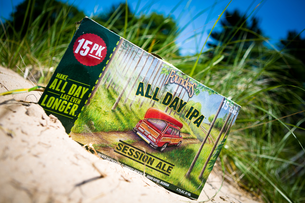 Founders All Day IPA, created by Brewmaster Jeremy Kosmicki back in 2009, is the perfect compliment to your Michigan beach day.