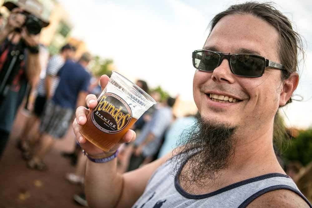 Brewmaster Jeremy Kosmicki, the man behind the All Day IPA, at Founders Fest 2016.
