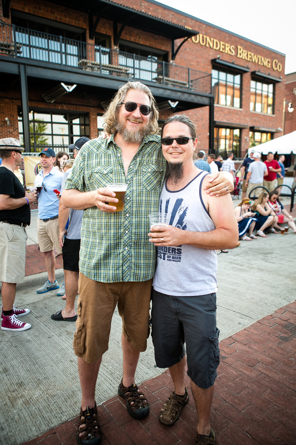 Founders Brewing owner, Dave Engbers with Brewmaster Jeremy Kosmicki at Founders Fest '16.