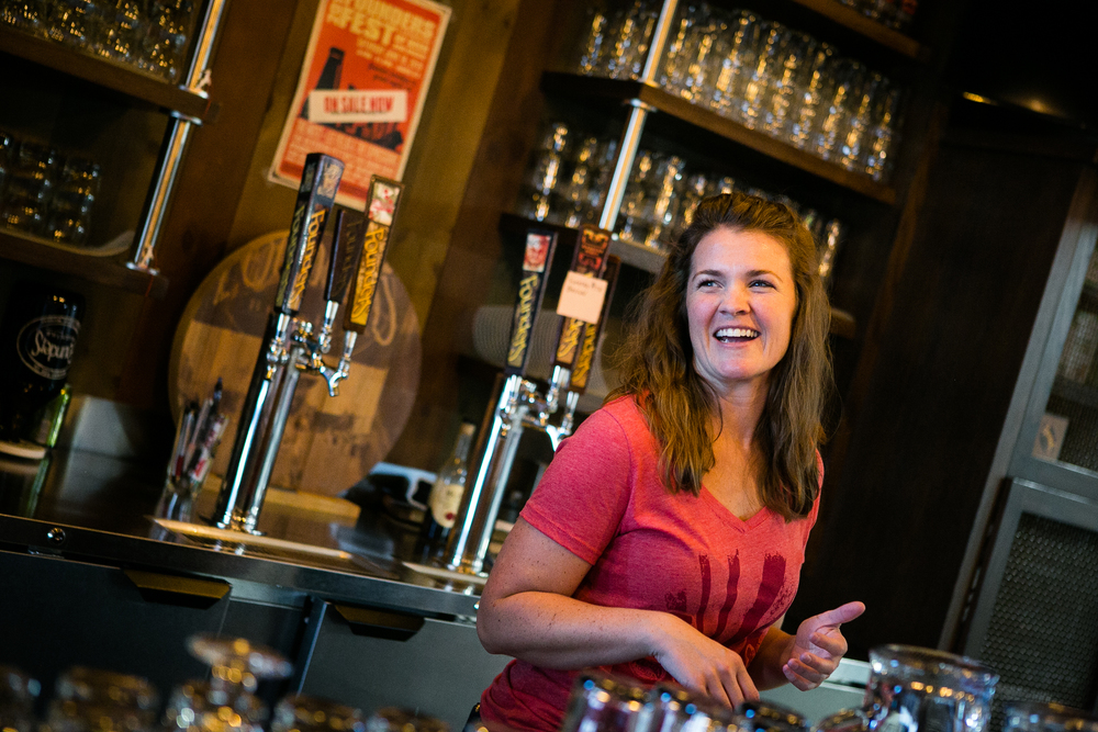 Founders Education Ambassador Marklyn Behling, behind the bar.
