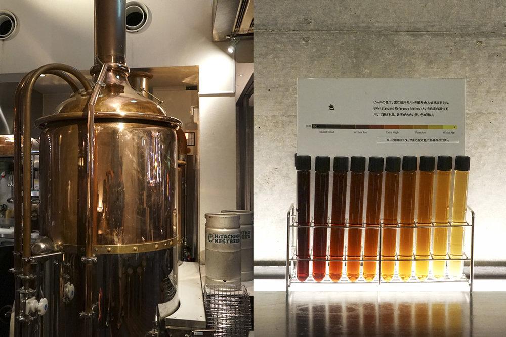 Hitachino Nest Lab's brewpub equipment & a unique way to show SRM.