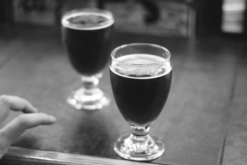 Stop 3 : Emporium Arcade Bar (Wicker Park) for some  NBB Love Blackberry Oscar , Lauren's favorite blend–NBB's base dark lager sour aged in fresh blackberry whiskey barrels from Leopold Bros. Distillery.