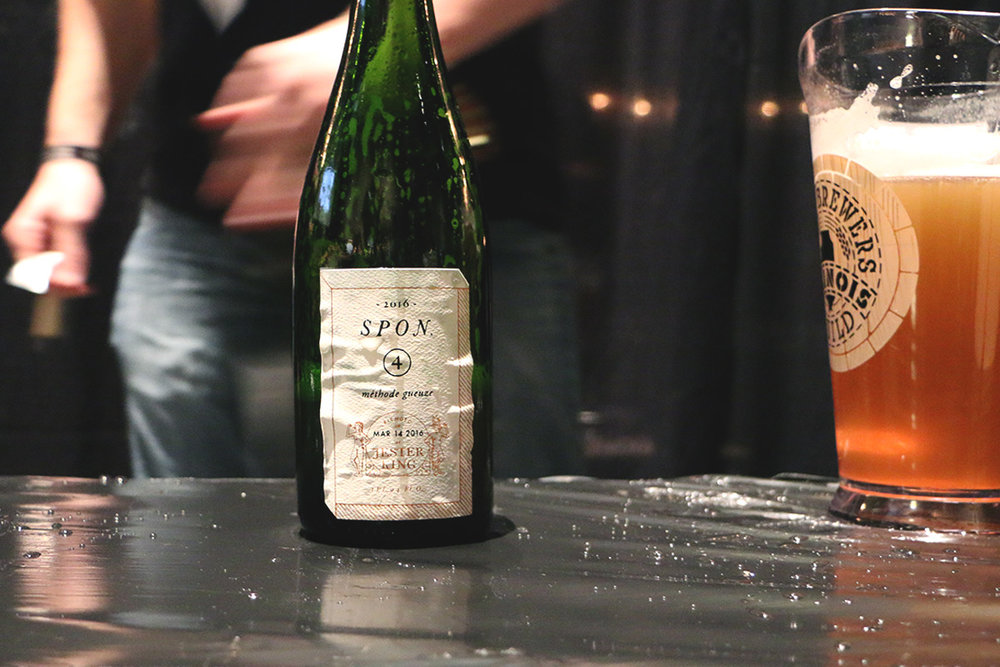 Jester King's  Spon 4 , a 'method gueuze', was crafted with the aided eye of Cantillon's brewers.
