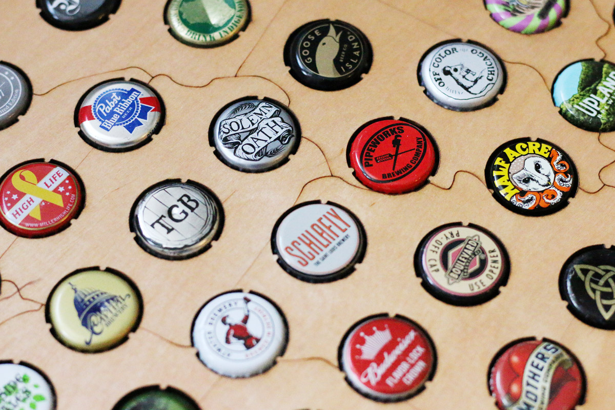 Beer Cap Maps: Analog Check-ins for the Digital World