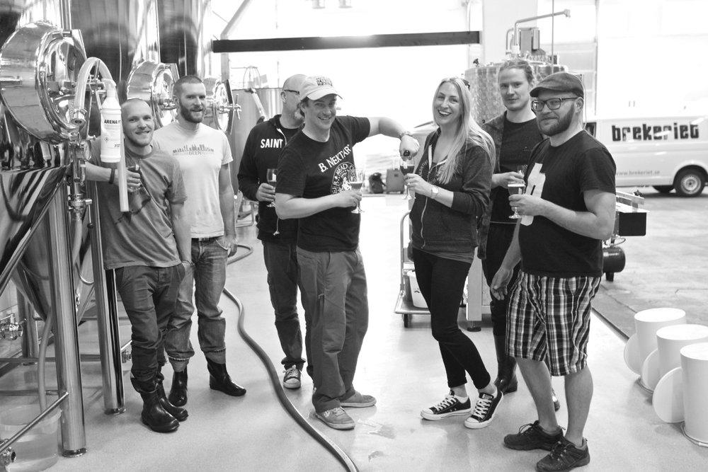 Brekeriet team at the Landskrona brewery. Photo credit: Jeff Flindt, @image.flindt