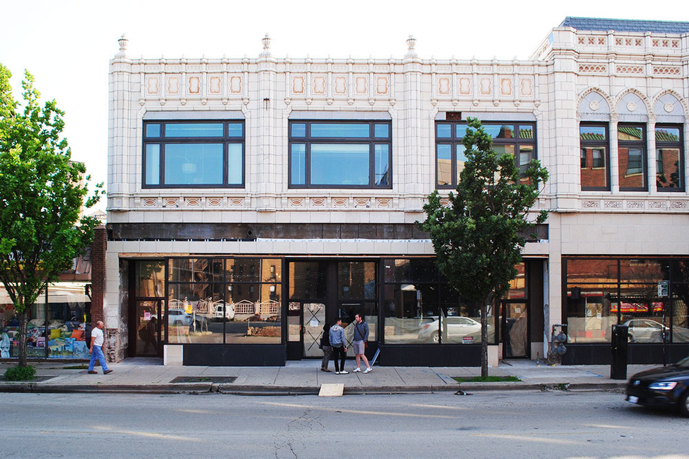 Owners Samantha Lee & Stephen Bossu show THR the Hopewell-to-be space on Milwaukee Ave.
