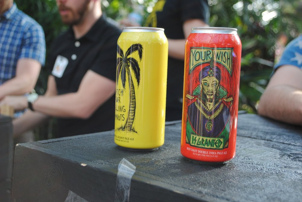 Two of Hop Butcher's popular IPAs are tasted out at this year's Beer Under Glass.