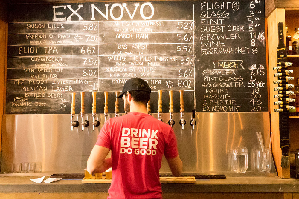 Portland, Oregon's unique not for profit brewery, Ex Novo.   [Photo: Nick Costa]