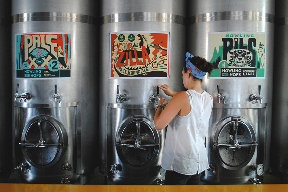 Brews get poured staright from the tank at London's Howling Hops. [Photo: Jack Muldowney]