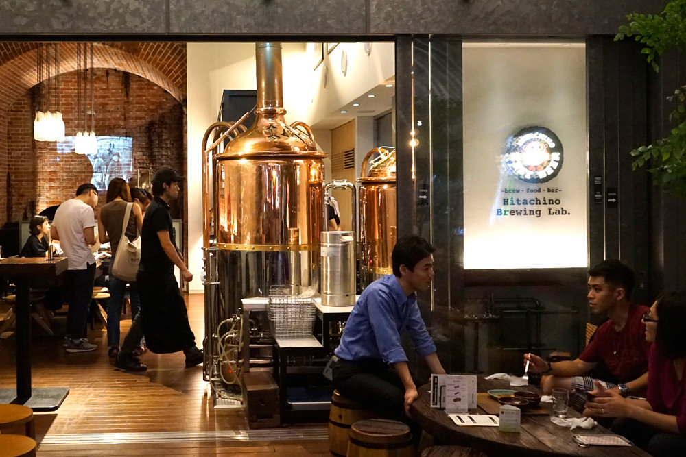 "Our ""DETOUR"" to Japan's Hitachino Brewing Lab in bustling Tokyo. [Photo: Tiffany Yang]"