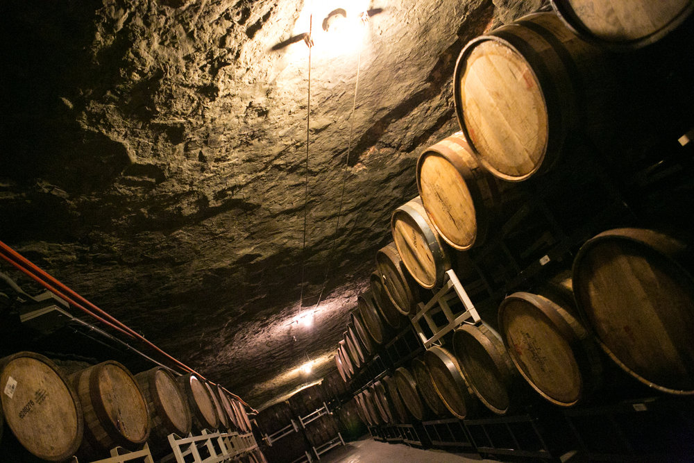 Gypsum caves under Grand Rapids, housing Founder's KBS and other barrel rarities. [Photo: Hilary Higgins]